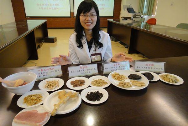 翁淑雯中醫師表示,平常在醫師的指導下食用養生料理,也能減輕乾燥引起的不適。(圖片提供/衛生福利部台中醫院)