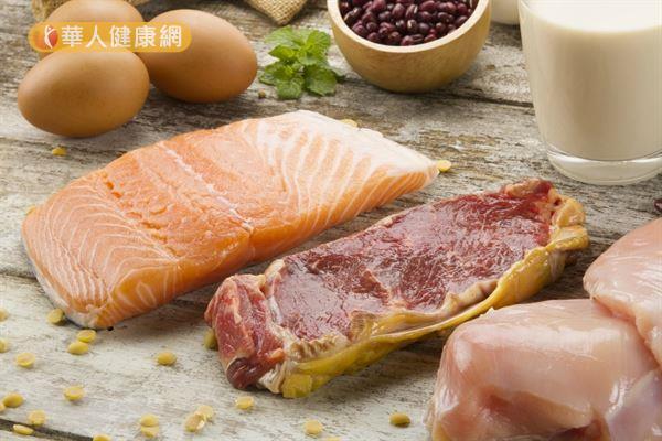 大豆、魚類、蛋類和肉類,都是優質的蛋白質食物。