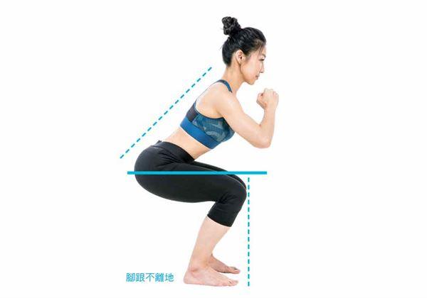 一個良好的深蹲動作,並需具備下列3大要件。(圖片/三采文化提供)
