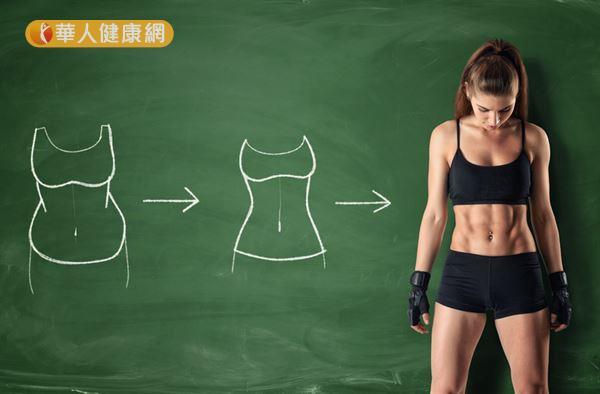 想要雕塑小腹,除了運動鍛鍊肌肉,別忘了還要控制飲食,減少腹部脂肪後才能看見肌肉線條。