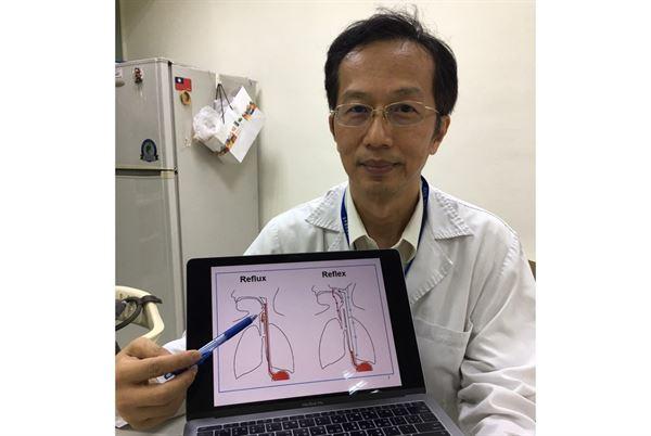 連漢仲醫師表示,胃食道逆流和咽喉逆流在症狀上有相當程度的重疊。(圖片提供/台中榮總)