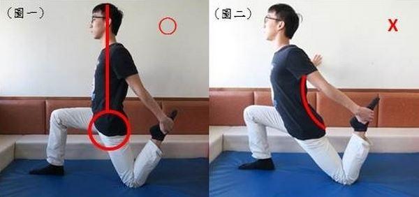 伸展髂腰肌。(圖片提供/楊書蓉物理治療師)