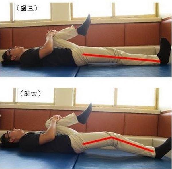 髂腰肌緊繃檢測。(圖片提供/楊書蓉物理治療師)