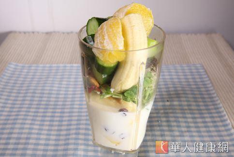 示範食譜:活力蔬果汁。(攝影/江旻駿)