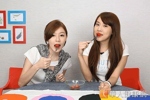 酸酸甜甜的番茄帶有蜂蜜的甜香以及薄荷的香氣,非常的提神醒腦。(攝影/江旻駿)