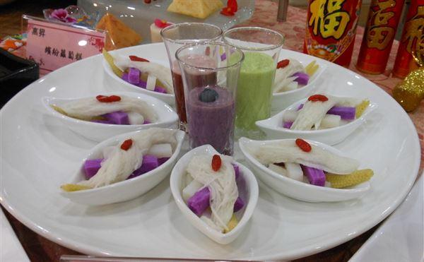 紫山藥沙拉。(攝影/駱慧雯)
