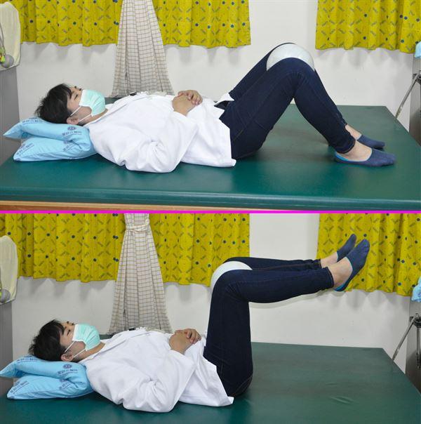 第3招/抬腿夾球。(圖片提供/童綜合醫院)