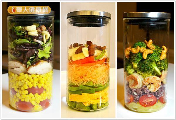 不只歐美國家,連日本也很流行的玻璃罐沙拉,一次滿足民眾對健康、低卡、美味飲食的需求!(攝影/洪毓琪)