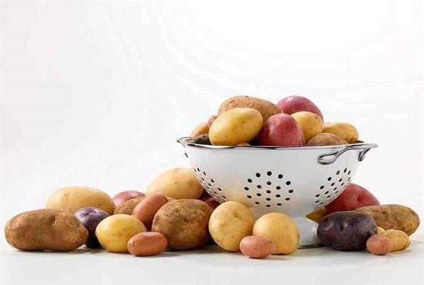 含鉀食物排名前三名包括、第一名空心菜、第二名菠菜,以及第三名馬鈴薯。(圖片提供/美國馬鈴薯協會)