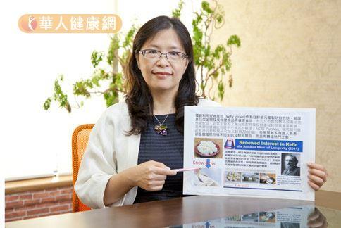 陳小玲博士(如圖)強調,「克弗爾肽」具有相當多元的保健功效,對健康有加分效果。(攝影/江旻駿)