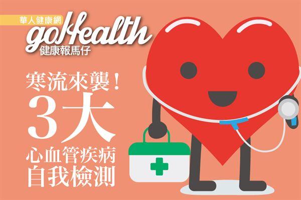 寒流來了好冷啊~心血管疾病患者要嚴加戒備!(製圖/羅德育)