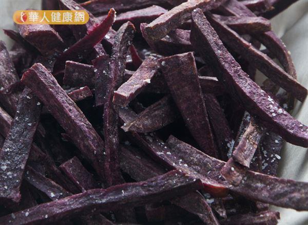 紫色山藥富含花青素,對於抗老、保護心血管健康有幫助!
