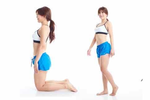 日本正流行《下跪減肥法》,與中醫強調《下跪消除贅肉》有異曲同工之妙。(圖片提供/時報出版)