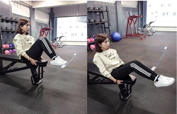 坐姿抬腿。(圖片提供/Abs健身俱樂部)
