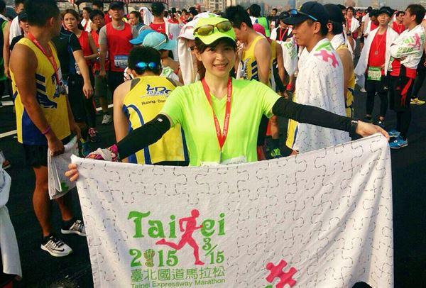 張佩蓉營養師經常參加各種路跑活動和馬拉松比賽。(圖片/張佩蓉營養師提供)