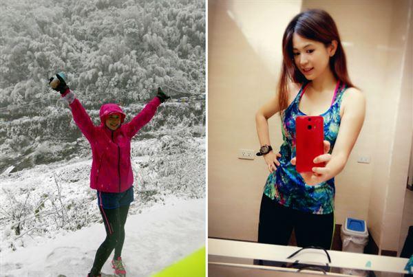 無論是下雪的寒冬還是炎熱的盛夏,張佩蓉營養師都保持跑步的熱血以及規律運動的好習慣!(圖片/張佩蓉營養師提供)