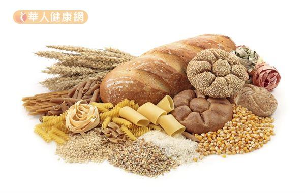 減重時建議盡量以原態少加工的五穀根莖類食物取代精緻加工的澱粉類食品。