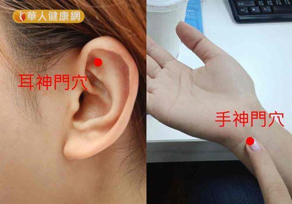 耳、手神門穴(如圖)可寧心安神、改善夏日失眠。