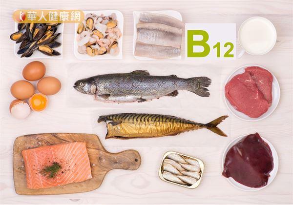 由於維生素B群中的B12,主要存在於動物性食物,例如,肝臟、紅肉、乳製品中。因此,對於吃純素(不吃奶蛋類)的素食者,十分容易缺乏。